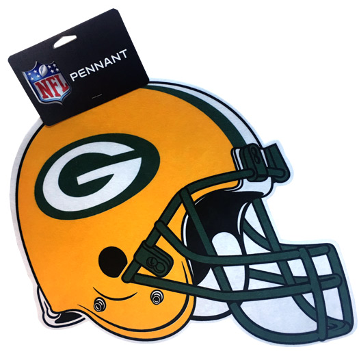 Green Bay Packers Team Helmet Pennant - Sports Team Logo Gifts - Santa Shop Gifts