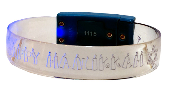 Happy Hanukkah Light Up Bracelet - Jewish - Hanukkah Gifts - Santa Shop Gifts