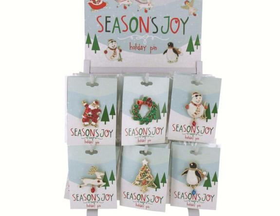 Holiday Pin Asst Styles - Christmas - Holiday Gifts - Santa Shop Gifts