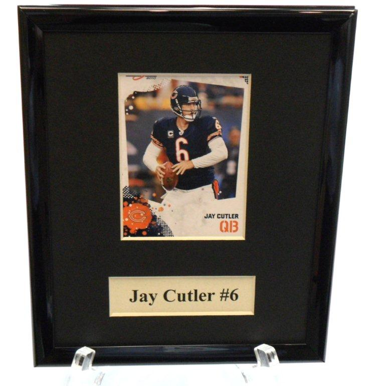 Jay Cutler Sports Star Plaque - Sports Team Logo Gifts - Santa Shop Gifts