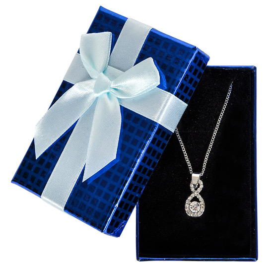 Jewel Necklace in Blue Gift Box - Jewelry Gifts - Santa Shop Gifts