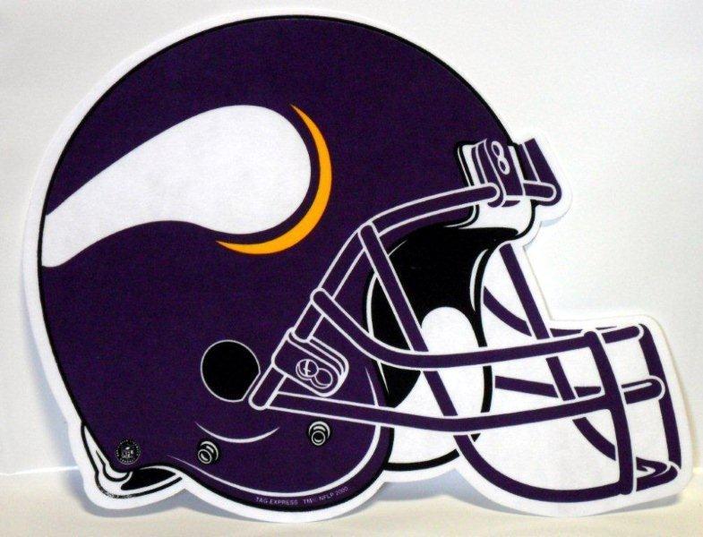 Minnesota Vikings Helmet Pennant - Sports Team Logo Gifts - Santa Shop Gifts