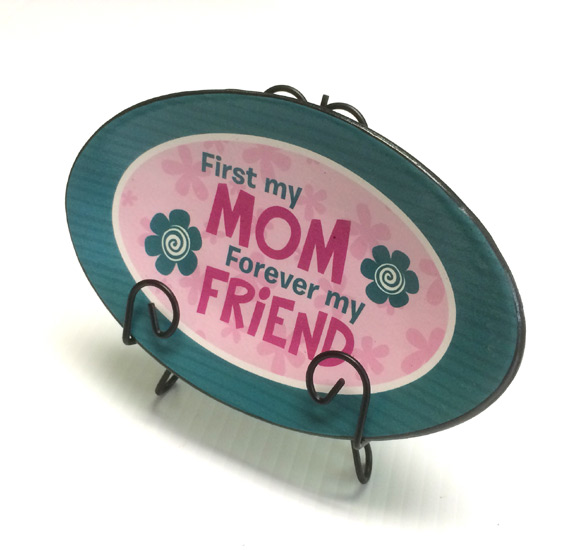 Mom Forever  Plaque Plate - Mom Gifts - Santa Shop Gifts
