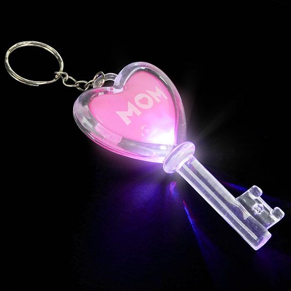 Mom Flashing Key Chain - Mom Gifts - Santa Shop Gifts