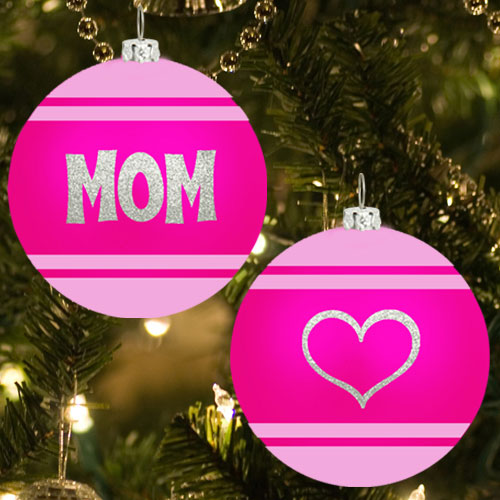 Mom Glitter Ornament