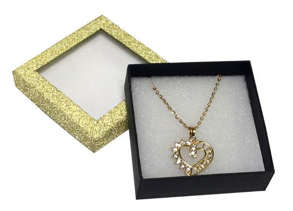 Mom Heart Necklace in Gold Box - Mom Gifts - Santa Shop Gifts
