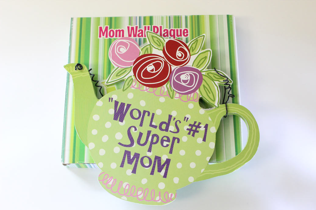 #1 Mom Teapot Wall Plaque - Mom Gifts - Santa Shop Gifts