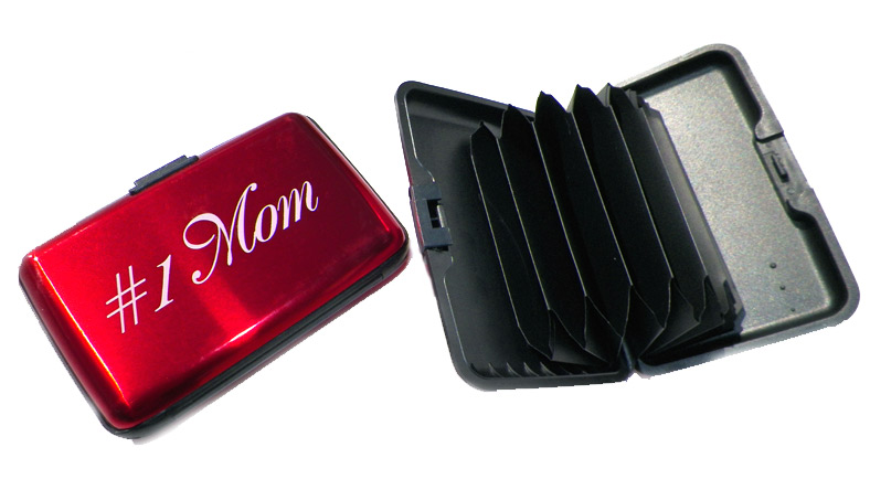 #1 Mom Scan Safe Credit Card Case - Mom Gifts - Santa Shop Gifts