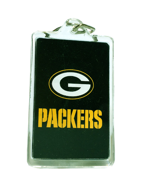 Green Bay Packers Acrylic Key Chain - Sports Team Logo Gifts - Santa Shop Gifts