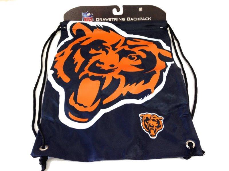 NFL Drawstring Backpack - Bears - Sports Team Logo Gifts - Santa Shop Gifts