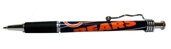 Chicago Bears NFL Rubber Grip Pen - Sports Team Logo Gifts - Santa Shop Gifts