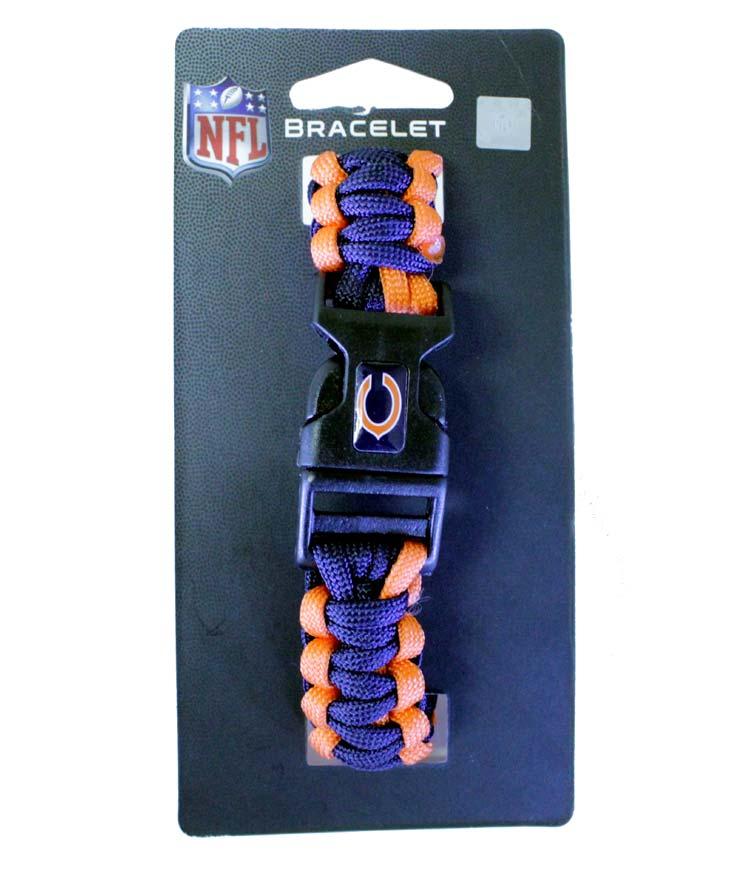 Chicago Bears NFL Survivor Bracelet - Sports Team Logo Gifts - Santa Shop Gifts