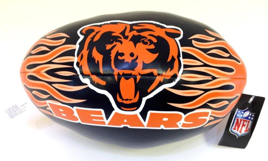 9 In. NFL Vinyl Football - Bears - Sports Team Logo Gifts - Santa Shop Gifts