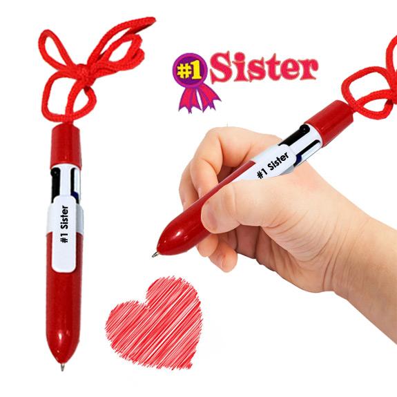 Sister 4-Color Pen Lanyard