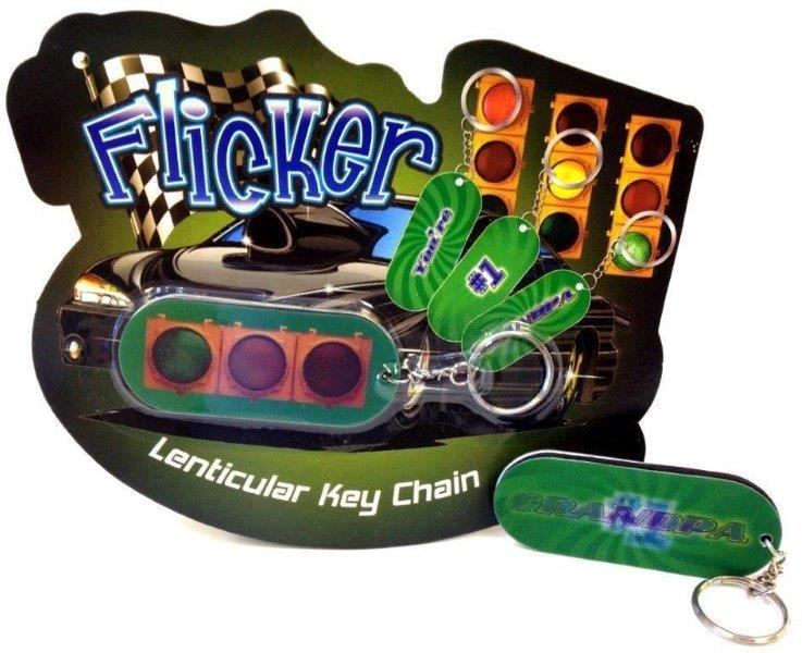#1 Grandpa Flicker Key Chain - Grandpa Gifts - Santa Shop Gifts