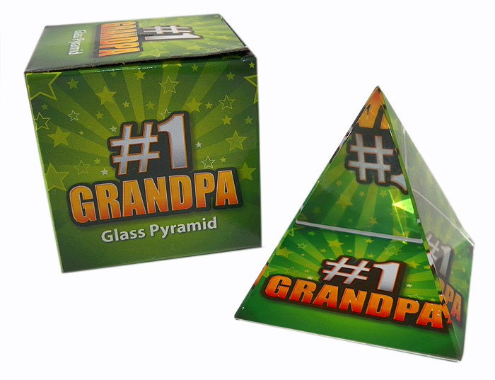 #1 Grandpa Glass Pyramid - Grandpa Gifts - Santa Shop Gifts