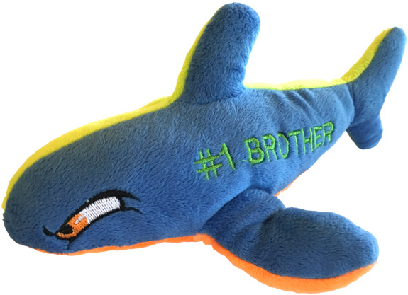 Number 1 Brother Plush Shark - Brother Gifts - Santa Shop Gifts