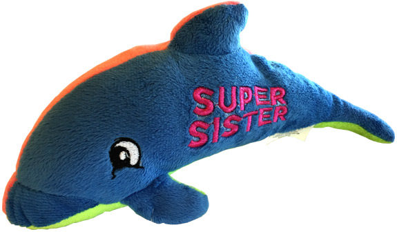 Sister Plush Dolphin - Sister Gifts - Santa Shop Gifts