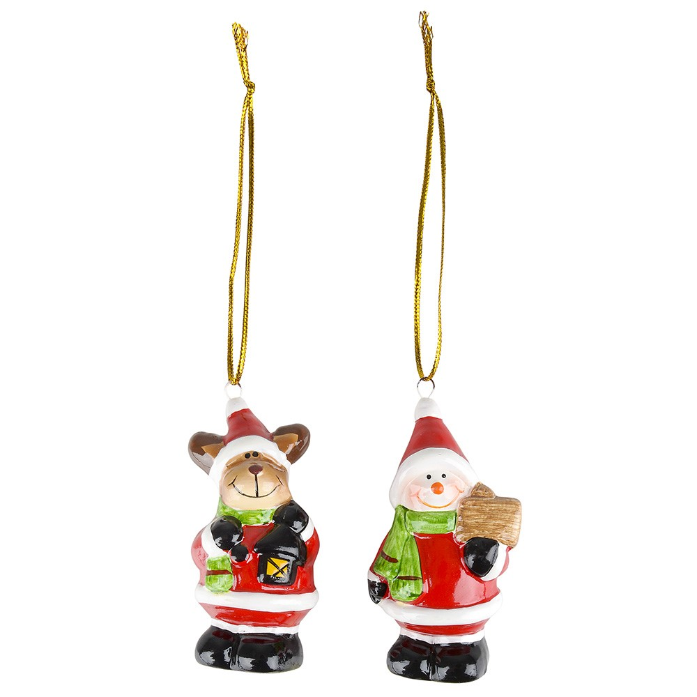 Reindeer/Snowman Ornament Asst. - Christmas - Holiday Gifts - Santa Shop Gifts
