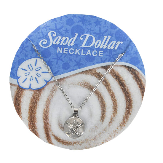 Sand Dollar Necklace - Jewelry Gifts - Santa Shop Gifts