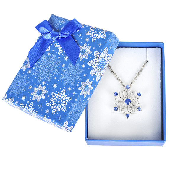 Snowflake Necklace in Snowflake Gift Box - Jewelry Gifts - Santa Shop Gifts