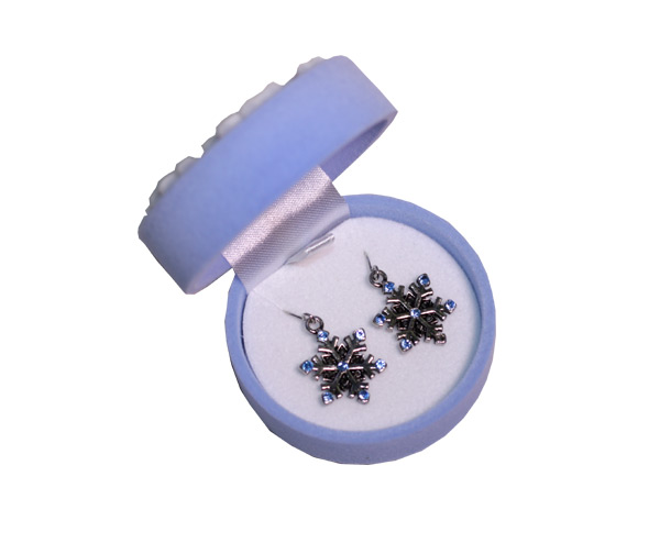 Snowflake Earrings In Snowflake Box - Jewelry Gifts - Santa Shop Gifts