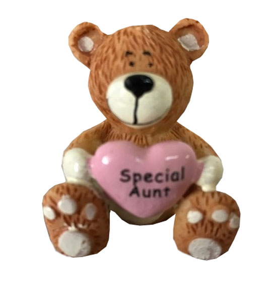 Aunt Teddy Bear with Heart - Aunt Gifts - Santa Shop Gifts