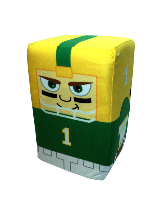 10 Inch Green Bay Player Stackable Plush - Sports Team Logo Gifts - Santa Shop Gifts