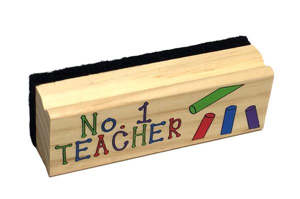 #1 Teacher Chalkboard Eraser - Teacher Gifts - Santa Shop Gifts