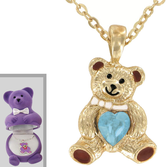 Teddy Bear Pendant with Box - Jewelry Gifts - Santa Shop Gifts