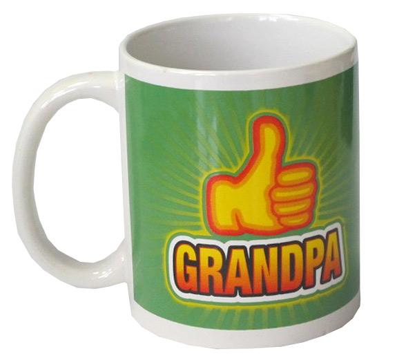 Thumbs Up Emoji Grandpa Mug - Grandpa Gifts - Santa Shop Gifts