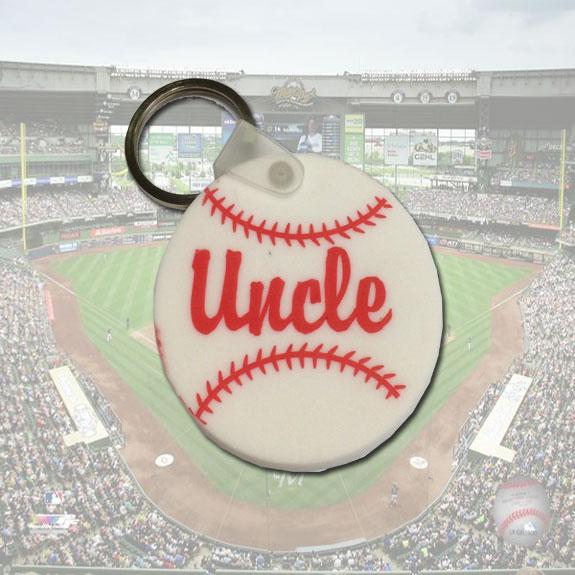 Uncle Baseball Keychain - Uncle Gifts - Santa Shop Gifts