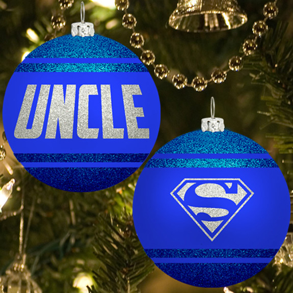 Uncle Glitter Ornament