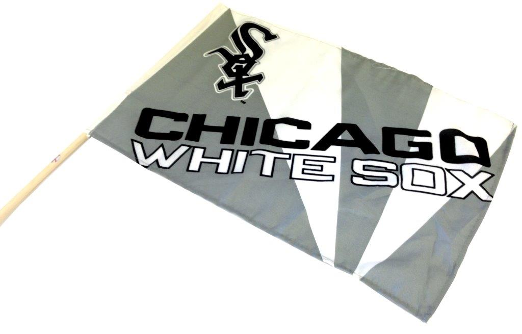 Team Flag on Stick - White Sox - Sports Team Logo Gifts - Santa Shop Gifts
