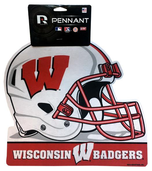 Wisconsin Badgers Helmet Pennant - Sports Team Logo Gifts - Santa Shop Gifts