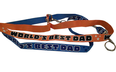 World's Best Dad Lanyard - Dad Gifts - Santa Shop Gifts