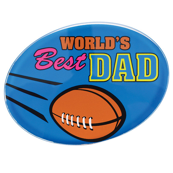 World's Best Dad Paperweight - Dad Gifts - Santa Shop Gifts
