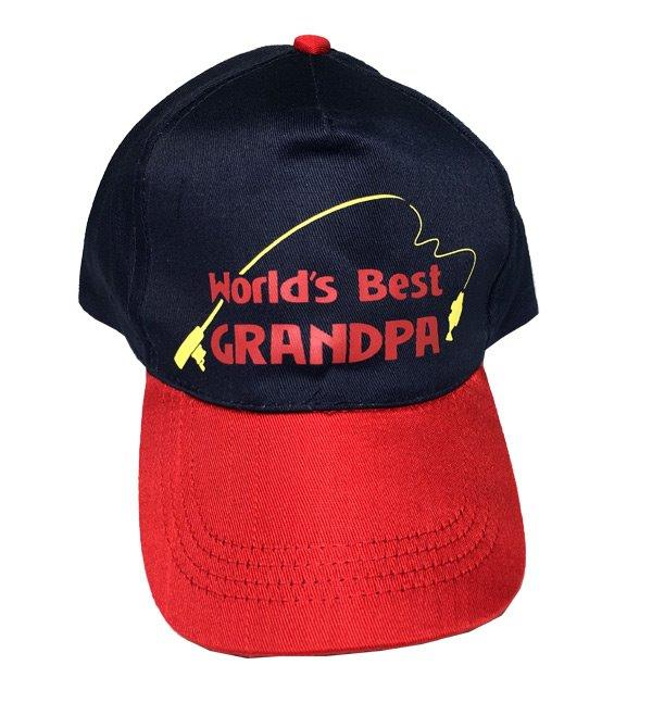 Worlds Best Grandpa Cap - Grandpa Gifts - Santa Shop Gifts
