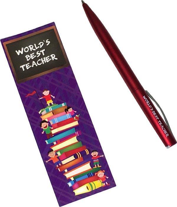 Teacher Pen with Bookmark - Teacher Gifts - Santa Shop Gifts