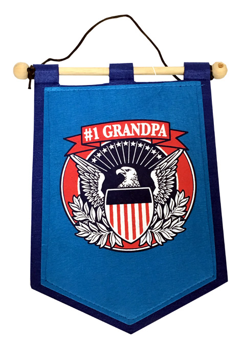 Grandpa Banner on Wooden Rod