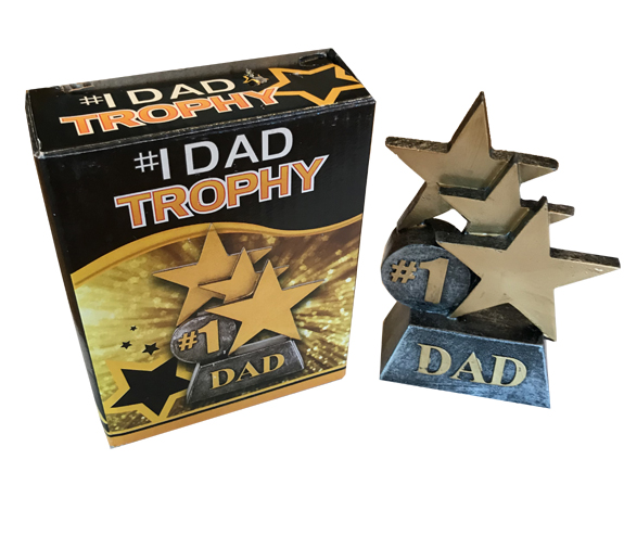 #1 Dad Trophy - Dad Gifts - Santa Shop Gifts