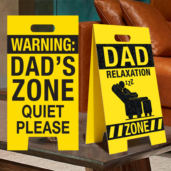 Dad Relaxation Zone Sign - Dad Gifts - Santa Shop Gifts
