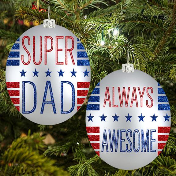 Super Dad Ornament - Dad Gifts - Santa Shop Gifts