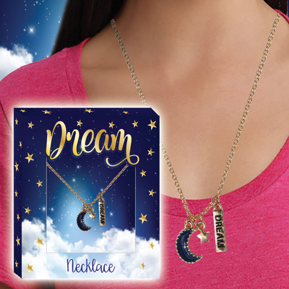 Dream Gold Charm Necklace - Jewelry Gifts - Santa Shop Gifts