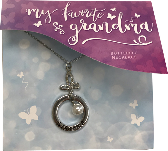 Grandma Necklace on Card - Grandma Gifts - Santa Shop Gifts