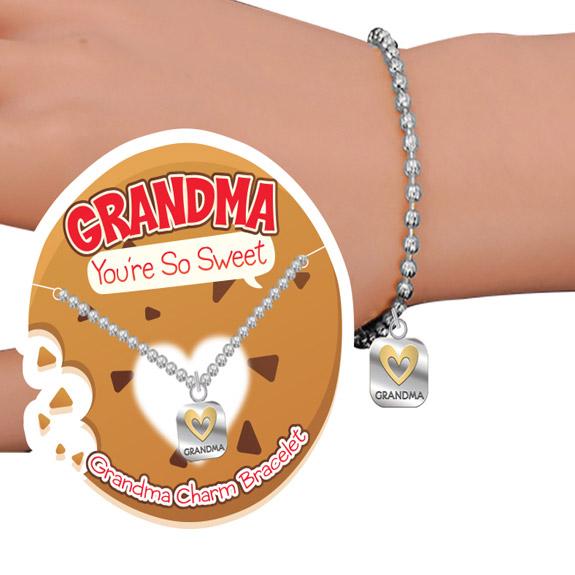 Grandma You're Sweet Charm Bracelet - Grandma Gifts - Santa Shop Gifts
