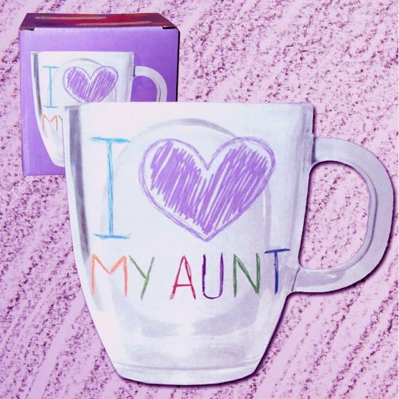 I Love My Aunt Glass Mug - Aunt Gifts - Santa Shop Gifts