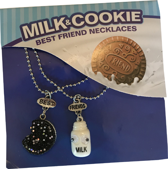 Milk & Cookie Necklace - Gifts For Boys & Girls - Santa Shop Gifts