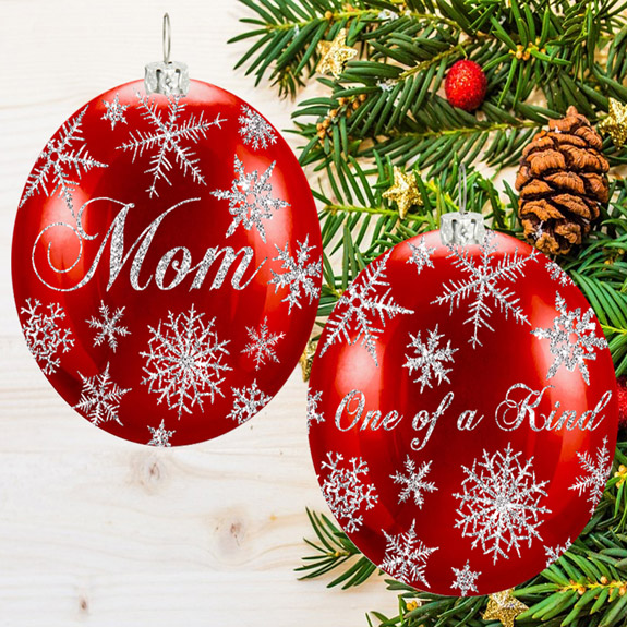 Mom Snowflake Ornament - Mom Gifts - Santa Shop Gifts
