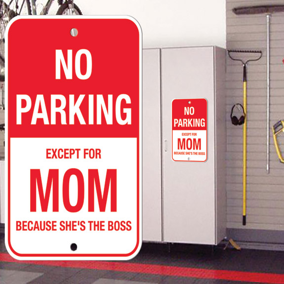 No Parking Except Mom Sign - Mom Gifts - Santa Shop Gifts